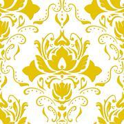 Golden vintage wallpaper - stock illustration
