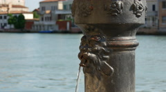 Water fountain close up in Murano Venice Italy Stock Footage