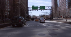 Entering the Battery Tunnel from the West Side Highway in Manhattan Stock Footage