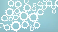 Simple Cogwheel Background Animation - stock footage
