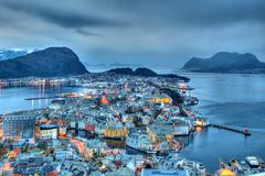 City of Alesund in Norway Stock Photos