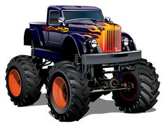 Cartoon Monster Truck Piirros