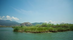 Dalyan river in mountains in turkey asia Stock Footage