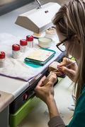 production dentures - stock photo