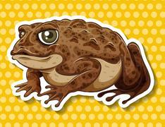Brown frog Piirros