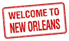 Welcome to New Orleans red grunge square stamp Stock Illustration