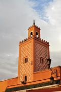 marrakech Jemaa el Fna Mosque - stock photo