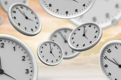 Composite image of clocks Stock Illustration