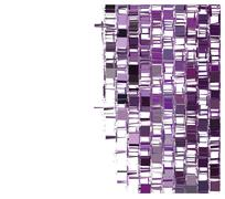 Stock Illustration of purple fragmented abstract pattern over white