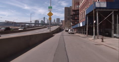 Driving on South Street in Manhattan Stock Footage