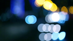 Traffic in the night city. Abstract bokeh. Stock Footage