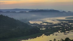 Time-lapse cloud dancing above the river in Thailand. Stock Footage