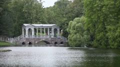 Marble  Bridge, or Siberian Marble gallery. Catherine Park. Pushkin. Petersburg Stock Footage