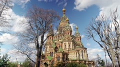 Russia, Saint Petersburg, the St. Peter and Paul Church. Time lapse. Stock Footage