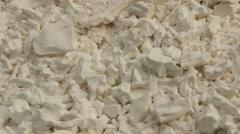 Cassava flour on plate Stock Footage