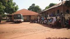Africa village people Guine Bissau Stock Footage