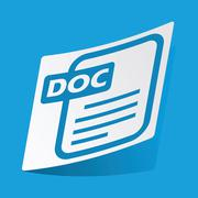 DOC file sticker Stock Illustration
