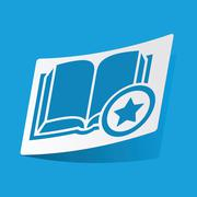 Favorite book sticker Stock Illustration