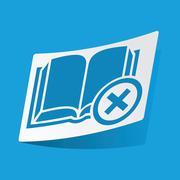 Remove book sticker Stock Illustration
