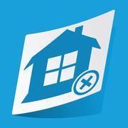 Remove house sticker Stock Illustration