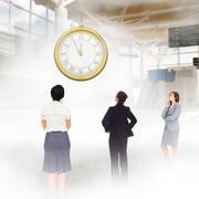 Composite image of focused businesswoman Stock Illustration