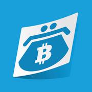 Bitcoin purse sticker - stock illustration
