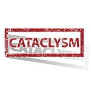 CATACLYSM outlined stamp - stock illustration