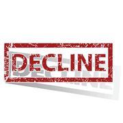 DECLINE outlined stamp Stock Illustration