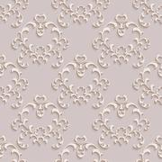 Floral seamless wallpapers in the style of Baroque . Can be used for backgrounds - stock illustration
