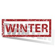 WINTER outlined stamp Stock Illustration
