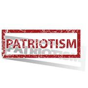 PATRIOTISM outlined stamp Stock Illustration