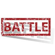 BATTLE outlined stamp Stock Illustration