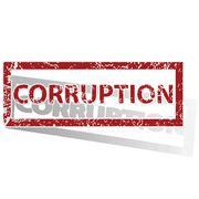 CORRUPTION outlined stamp Stock Illustration
