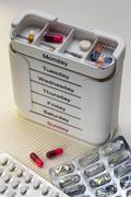 Daily Drugs Box - Medication Stock Photos