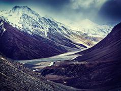 Severe mountains - View of Himalayas, India Stock Photos
