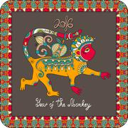 Stock Illustration of original design for new year celebration with decorative