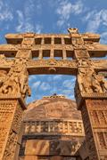 Great Stupa. Sanchi, Madhya Pradesh, India Stock Photos