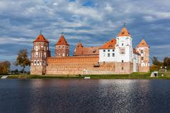 Mir castle in Belarus Stock Photos