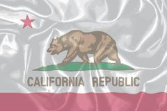 Silk Flag of the State of California - stock illustration