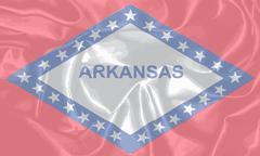 Silk Flag of the State Arkansas Stock Illustration
