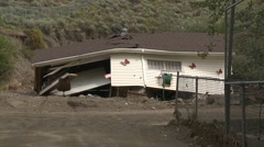 natural disaster, flood destroyed home - stock footage