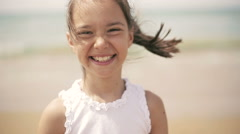 Happy child at sea Stock Footage