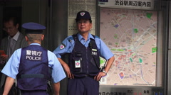 Japanese First Responder In Shibuya Tokyo Stock Footage