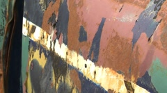 Old wrecks, cars 1950s detail, rust and patina Stock Footage