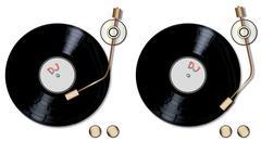 DJ Record Decks Stock Illustration