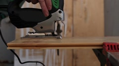 Sawing jigsaw Stock Footage