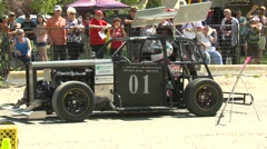 motorsports, hillclimb launch steampunk legend - stock footage