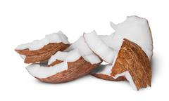 Several pieces of coconut pulp - stock photo