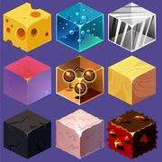 Different Materials and Textures for the Game Stock Illustration