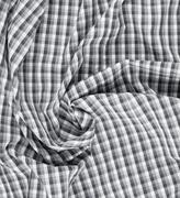 Wrinkled squared cloth fabric Stock Photos